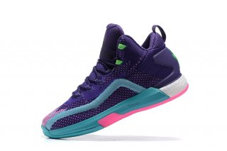 "Adidas John Wall 2 Boost Primeknit ""All Star"" Pourpre Bleu Rose (d70028)"