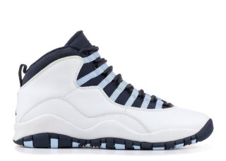 Air Jordan 10 Retro Blanc Obsidienne Bleu (310805-141)