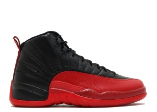 "Air Jordan 12 Retro ""Flu Game 2016 Release"" Noir Rouge (130690-002)"