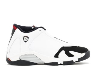 "Air Jordan 14 Retro (Gs) ""Black Toe"" Blanc Noir (654963-102)"