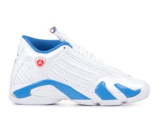 Air Jordan 14 Retro (Gs) Blanc Bleu (467798-107)