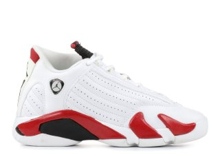 Air Jordan 14 Retro (Gs) Blanc Rouge (312091-101)