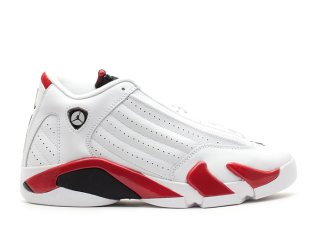 "Air Jordan 14 Retro (Gs) ""Candy Cane"" Blanc Rouge (487524-101)"