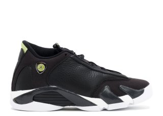"Air Jordan 14 Retro (Gs) ""Indiglo"" Noir Blanc (487524-005)"