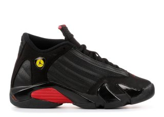 "Air Jordan 14 Retro (Gs) ""Last Shot 2011 Release"" Noir Rouge (312091-010)"