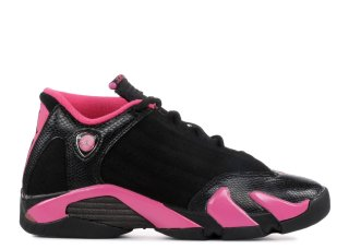 Air Jordan 14 Retro (Gs) Noir Rose (467798-012)