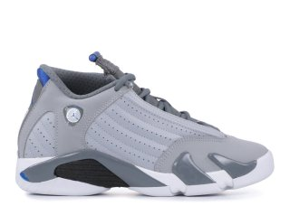 "Air Jordan 14 Retro (Gs) ""Sport Bleue"" Gris (487524-004)"