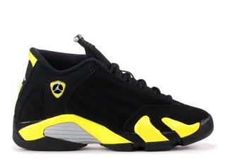 "Air Jordan 14 Retro (Gs) ""Thunder"" Noir Jaune (487524-070)"