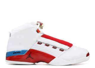 Air Jordan 17 Blanc Rouge Bleu (302720-161)