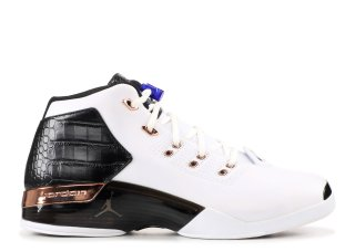 "Air Jordan 17+ Retro ""Copper"" Blanc Noir (832816-122)"