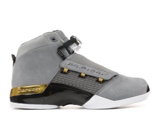 "Air Jordan 17 Retro Trophy Rm ""Trophy Room"" Gris Or (ah7963-023)"