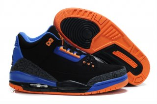 Air Jordan 3 Black Orange Bleue