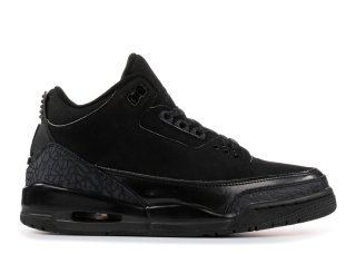"Air Jordan 3 Retro ""Noir Cat"" Noir (136064-002)"