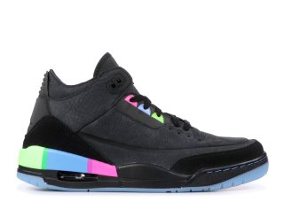 "Air Jordan 3 Retro Se Q54 ""Quai 54"" Noir Vert (at9195-001)"