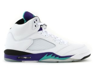 "Air Jordan 5 Retro Ls ""Grape"" Blanc Pourpre (314259-131)"