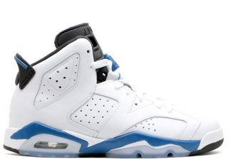 "Air Jordan 6 Retro (Gs) ""Sport Bleue"" Blanc Bleu (384665-107)"