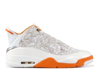 Air Jordan Dub Zero Blanc Orange (311046-111)