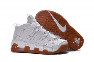 Nike Air More Uptempo Blanc Marron