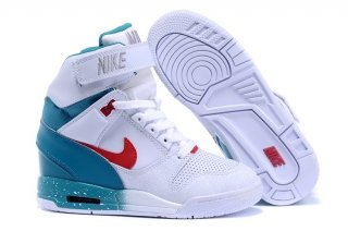 Nike Air Revolution Sky High Wedge Sneakers Blanc Bleu Rouge