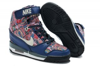 Nike Air Revolution Sky High Wedge Sneakers Bleu Multicolore (599410-200)