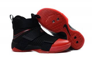 "Nike Lebron Soldier X 10 ""Red Toe"" Noir Rouge"