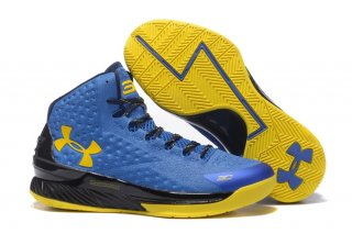 Under Armour Curry 1 Bleu Jaune Noir