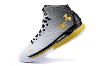 "Under Armour Curry 1 ""Mvp"" Noir Blanc Or"