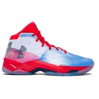 "Under Armour Curry 2.5 ""Texas"" Blanc Rouge"