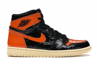 "Air Jordan 1 High Retro ""Shattered Backboard 3.0"" Noir Orange (555088-028)"