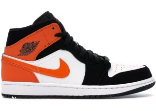 "Air Jordan 1 Mid ""Shattered Backboard"" Noir Orange (554724-058)"