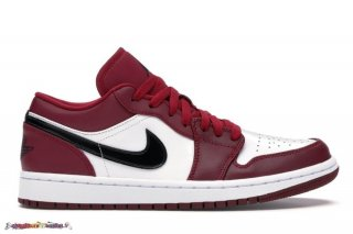 "Jordan 1 Low ""Noble Rouge"" Noir Blanc (553558-604)"