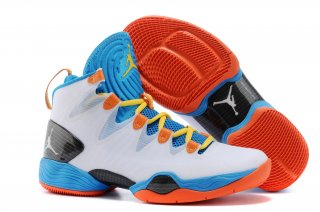 Air Jordan 28 Blanc Bleu Orange