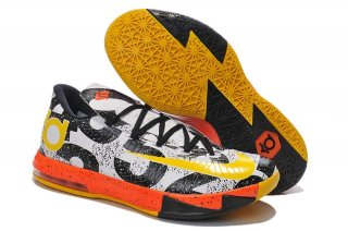 Nike KD 6 Noir Blanc Jaune Orange