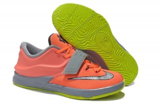 Nike KD 7 Orange Gris Enfant