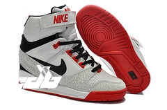 Nike Air Revolution Sky High Wedge Sneakers Blanc Noir Rouge (599410-010)